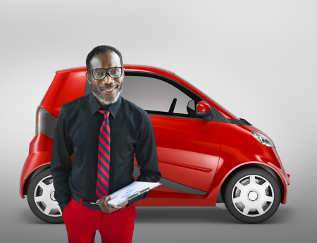 motoring: Eco Car Vehicle Transportation 3D Illustration Concept
