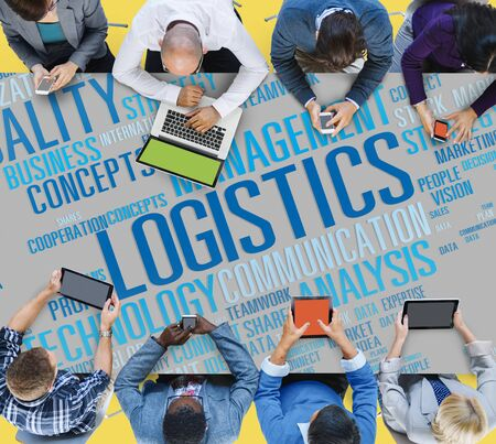 shipment: Logistics Management Freight Service Production Concept Stock Photo