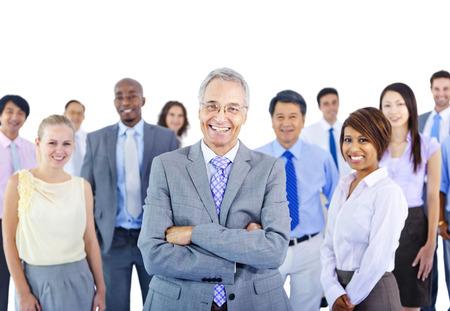 業務: 商人小組團隊的合作夥伴關係的概念 版權商用圖片