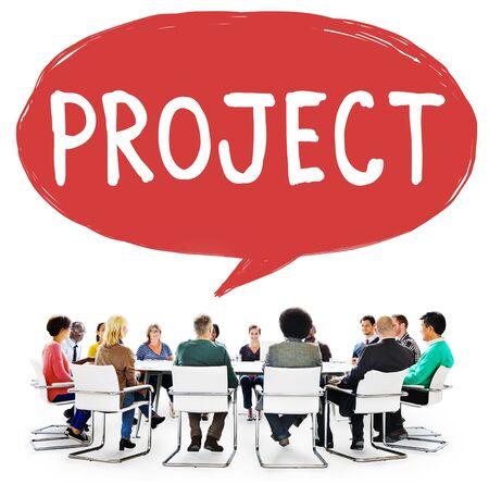 venture: Project Plan Strategy Venture Enterprise Concept Stock Photo