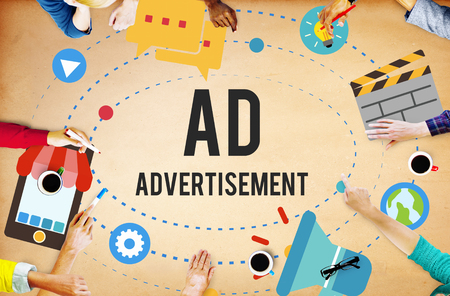 Ad Advertisement Marketing Commercial Concept Reklamní fotografie
