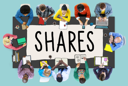 give: Shares Sharing Help Give Dividend Concept Stock Photo