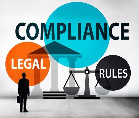 Compliance Legal Rule Compliancy Conformity Concept Stock fotó