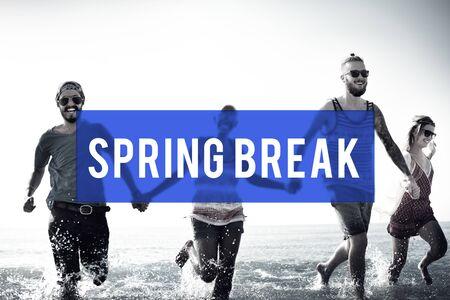 spring break: Spring Break Beach Party Teenager Adolescence Leisure Concept