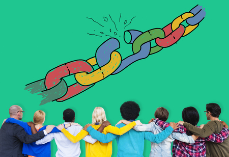Chain Broken Stress Pressure Freedom Concept