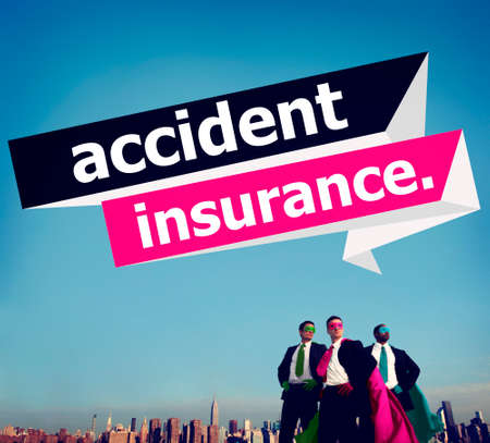 damaged car: Accident Insurance Protection Damage Safety Concept