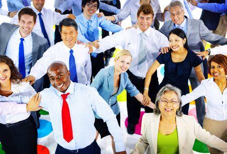 manos sosteniendo: Gente de negocios Commuter Grupo Equipo Concepto Corporativa