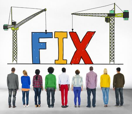 solution: Fix Mechanical Repair Solution Technician Maintenance Concept