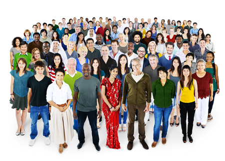 People Diversity Ethnicity Crowd Society Group Stock Photo