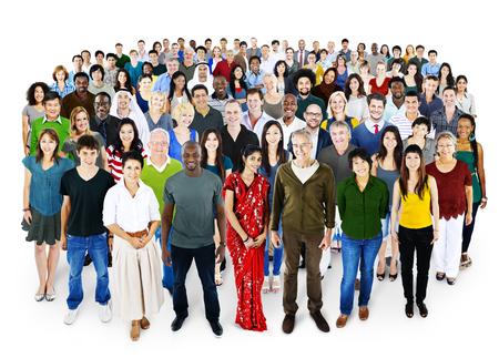 People Diversity Ethnicity Crowd Society Group Archivio Fotografico