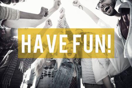 Have Fun Summer Beach Concepto Amistad vacaciones