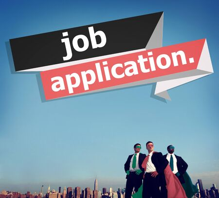 job application: Job Application Applying Recruitment Occupation Career Concept