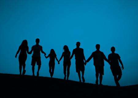 manos entrelazadas: Unidad