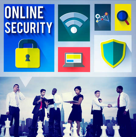 online privacy: Online Security Protection Password Privacy Data Concept