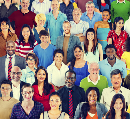 ethnic people: Multiethnic Variation Ethnicity Crowd People Concept Stock Photo