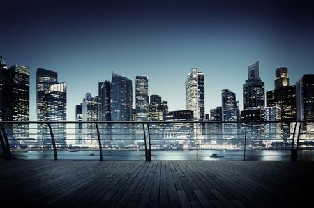 都市景観建築建物ビジネス大都市のコンセプト
