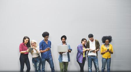 comunicação: Falar Brainstorming Comunicação Amigos Concept