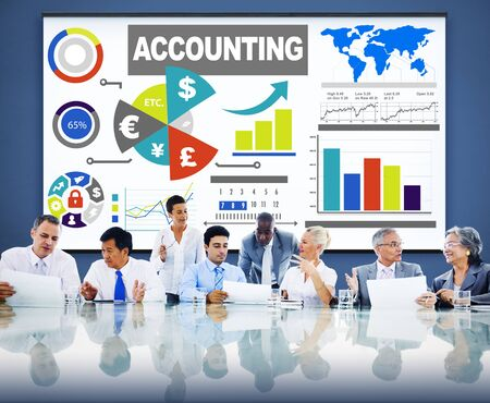expenditures: Accounting Investment Expenditures Revenue Data Report Concept