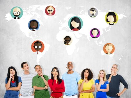 nationality: Global Community World People Social Networking Connection Concept
