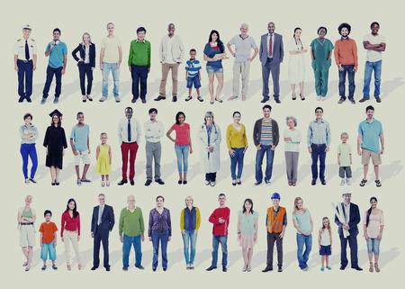 variation: Diversity Ethnicity Variation Togetherness Team Concept Stock Photo