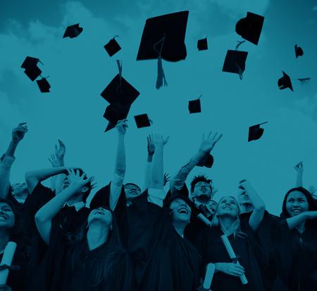 学生祭典教育卒業幸福概念 写真素材