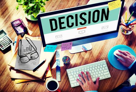 change direction: Decision Choose Chance Selection Option Concept