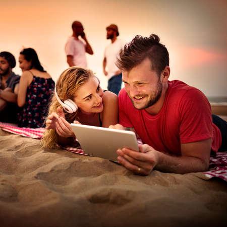 amicizia: Summer Beach Amicizia concetto di vacanza per le vacanze