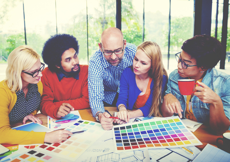 graphic designers: Designers Team Creative Occupation Working Planning Concept