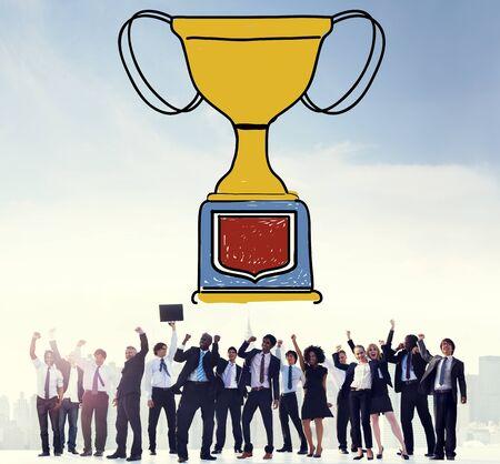 trofeo: Recompensa Ganar Motivaci�n Trofeo �xito Premio Concepto Foto de archivo