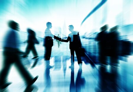 agreement: Handshake Partnership Agreement Business People Corporate Concept