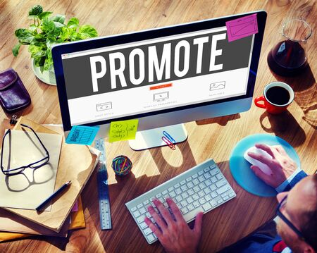 promover: Promote Commerce Announcement Marketing Product Concept