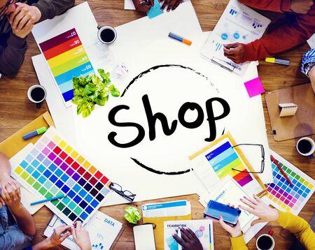 commerce: Shop Shopping Department Marketing Commerce Concept