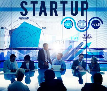 reuniones empresariales: Plan de negocios de inicio de Planificación Estrategia Concepto