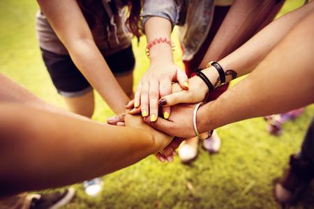 friendship: Travail d'équipe Relation Amitié Ensemble Unity Concept