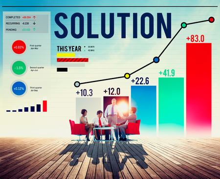 solution: Solution Solve Strategy Success Improvement Concept