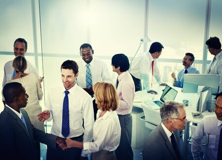 mixed age: Group of Business People Working Office Meeting Concept
