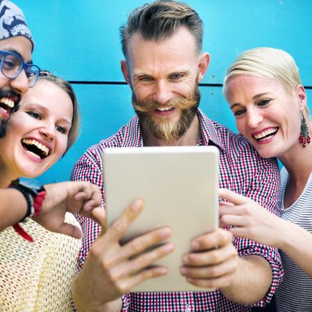 start up: Diversity Friends Discussion Communication Start up Concept