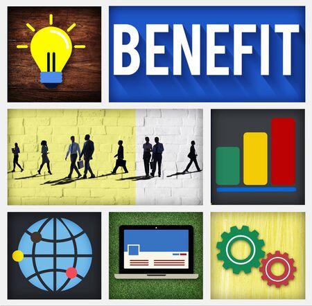 advantage: Benefit Income Profit Advantage Welfare Concept