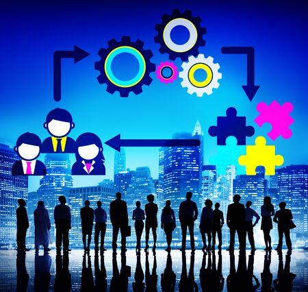 COLABORACION: Equipo Trabajo en equipo Colaboración Concepto Corporativa Foto de archivo