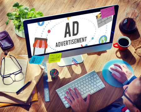 46738371: Ad Advertisement Marketing Commercial Concept Stock Photo