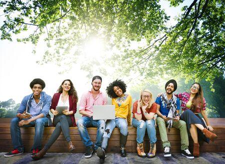 amicizia: Diversità adolescenti amici amicizia Squadra Concetto