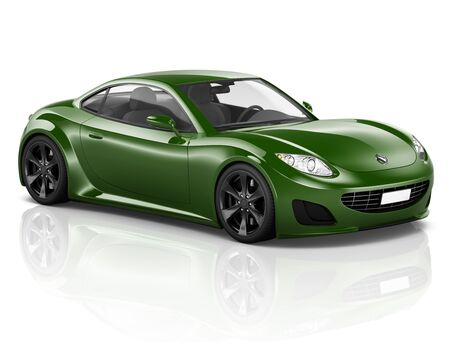 3D Sport Car Transporte Vehículo Ilustración Concepto Foto de archivo - 46738381