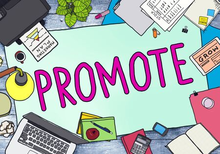 office stuff: Promote Marketing Plan Commercial Promotion Concept