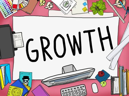 enlargement: Growth Improvement Grow Increase Process Concept