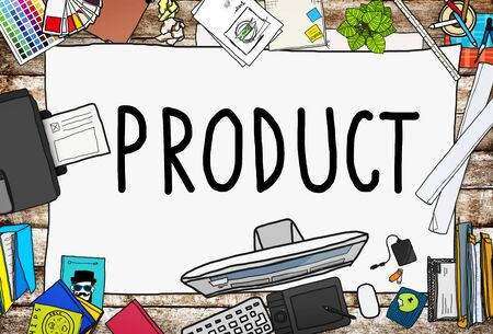 office products: Product Branding Commercial Marketing Concept