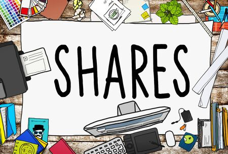 dividend: Shares Sharing Help Give Dividend Concept Stock Photo