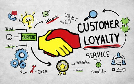 ethics: Customer Loyalty Service Support Care Trust Tools Concept Stock Photo
