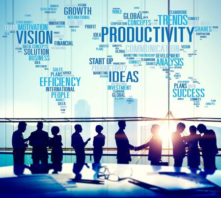 생산성 비전 아이디어 효율성 성장 성공 솔루션 개념