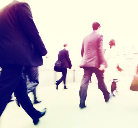 commuter: Commuter Business People Commuter Crowd Walking Concept Stock Photo