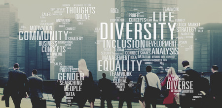 diversidad: Diverse Igualdad de G�nero Innovaci�n Concepto de Gesti�n Foto de archivo